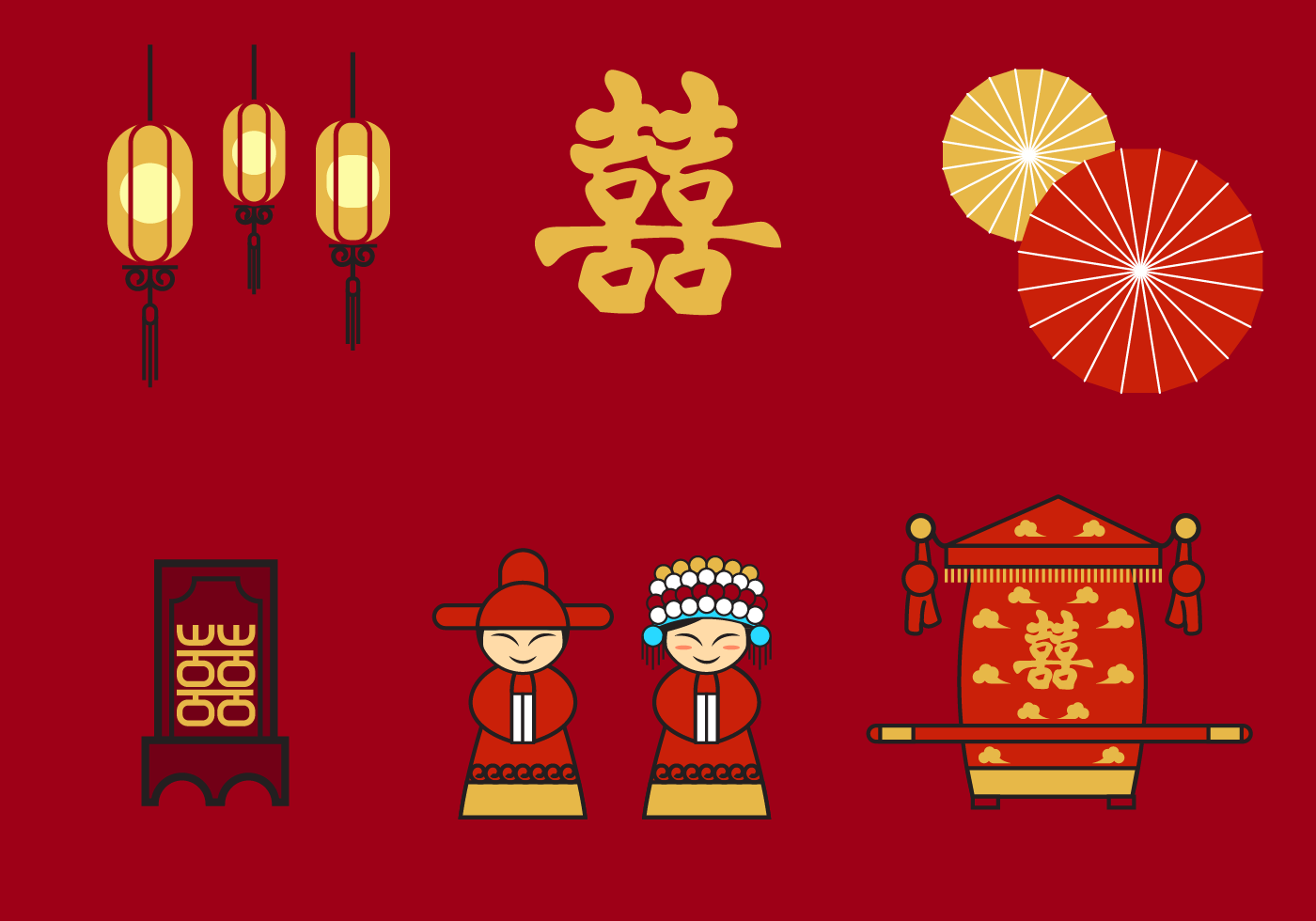 Free chinese wedding vector download free vector art for Chinese vector