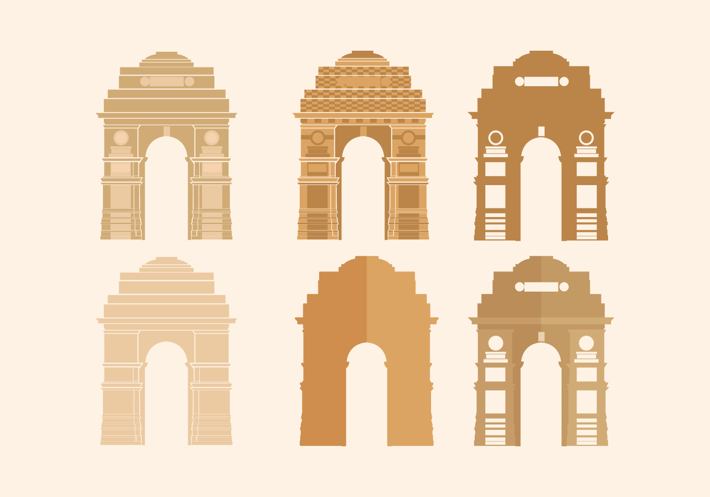 India Gate Vector Download Free Vector Art Stock