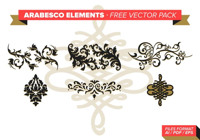 Arabesco Elementen Gratis Vector Pack