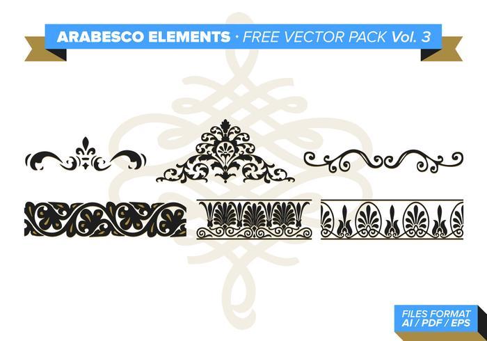 Arabesco Elementos Vector Pack Libre Vol. 3