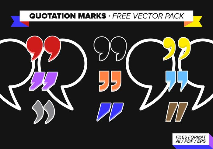 Quotation Marks Free Vector Pack