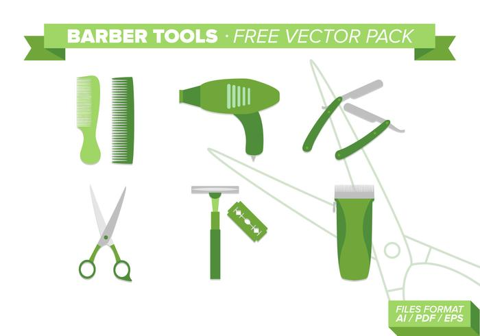 Barber Tools Free Vector Pack