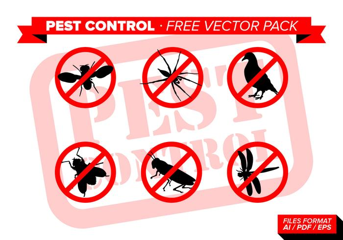 Pest Control Free Vector Pack