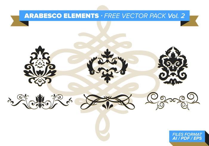 Pacote de vetores grátis do Arabesco Elements Vol. 2