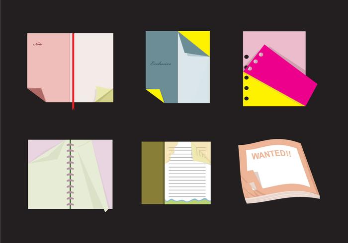 Books with Flipped Page Vectors