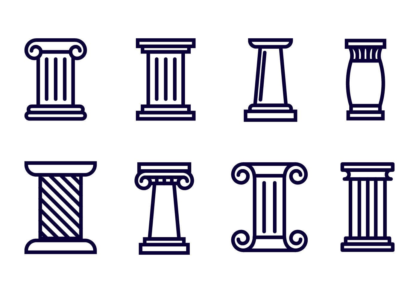 Free roman pillar icon vector download free vector art stock