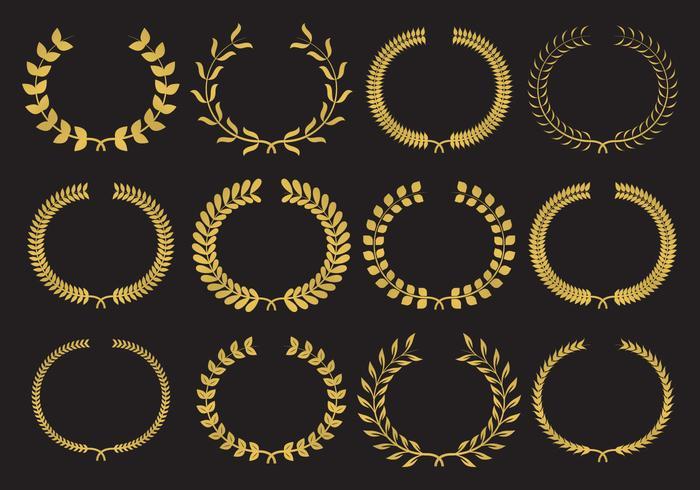 Gold Wreath Vectors