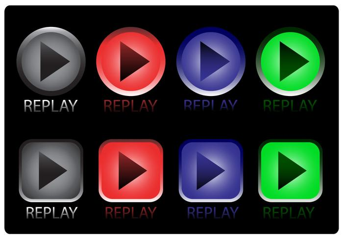 Replay Icon Vectors