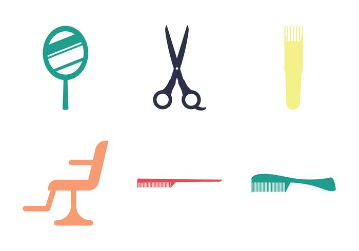 Free Barber Tools Vector Illustration