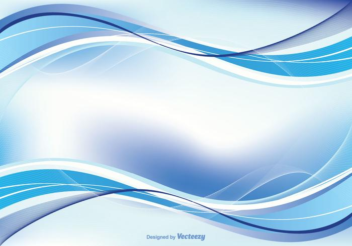 Abstrakt Blue Swirl Hintergrund Illustration