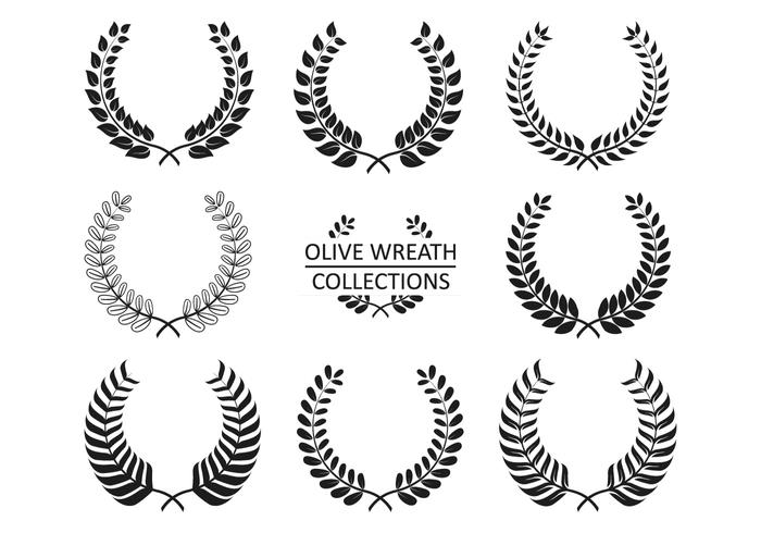 Olive Wreath Vector Collections