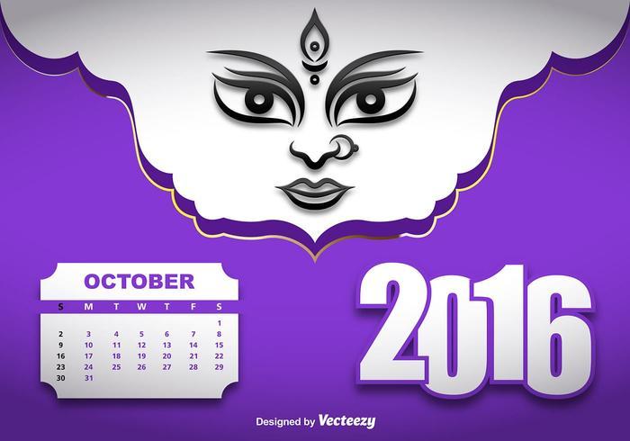 Durga puja vector illustration