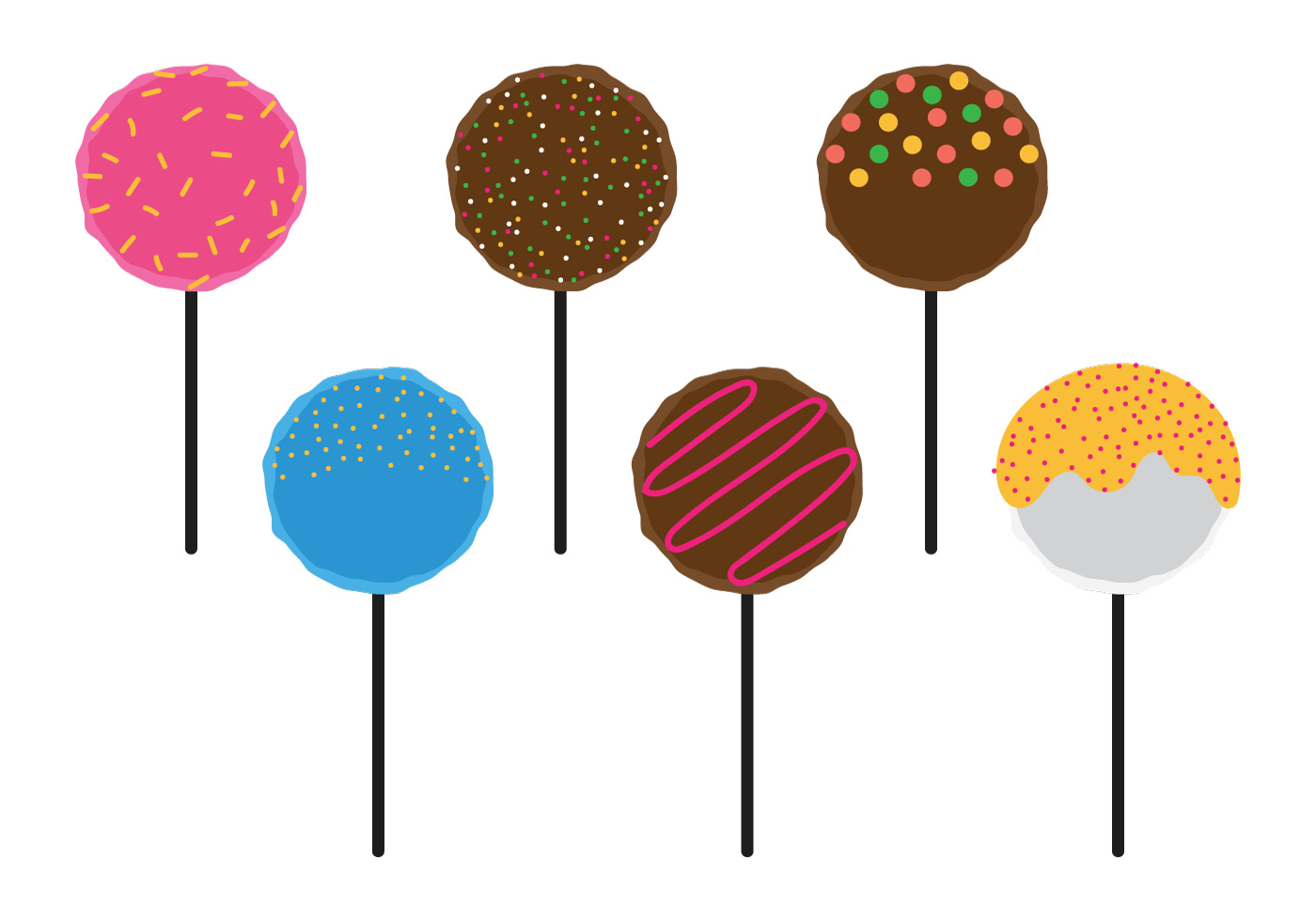 cake pops with topping download free vector art  stock slice of cake clipart free slice of cake clipart free
