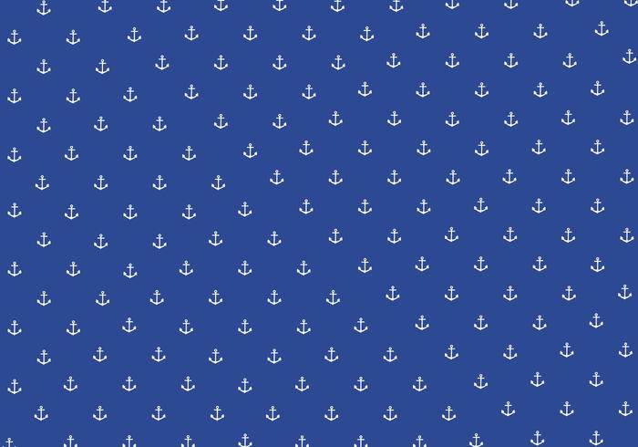 Seamless Anchor Pattern Background Vector