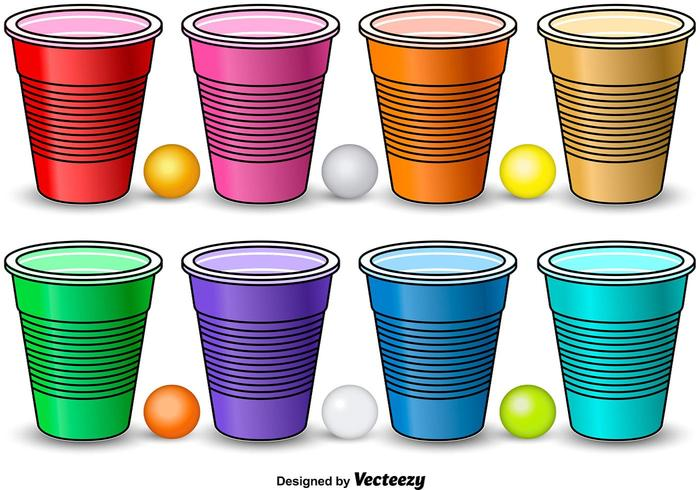 Colorful Beer Pong Elements