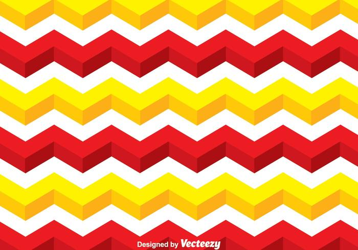 Yellow And Red Line Chevron Pattern