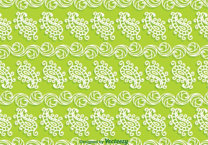 Paisley Green Background