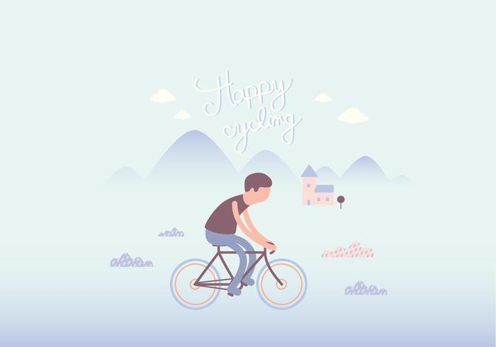 Cyclist illustration wallpaper