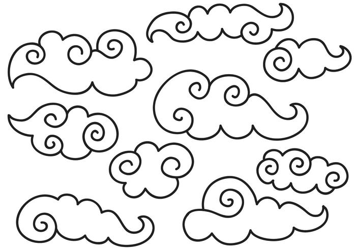 Free Chinese Clouds II Vectors