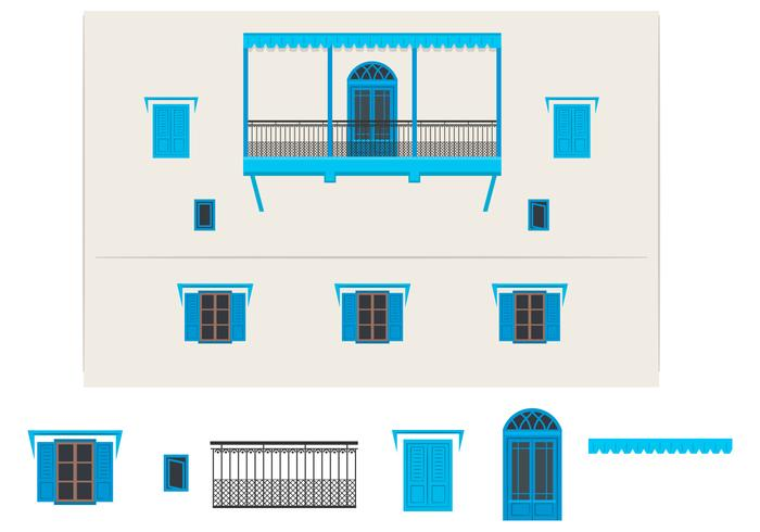 Indian Building Vector