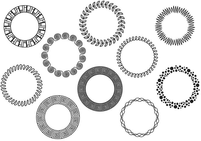Free Abstract Wreaths Vectors