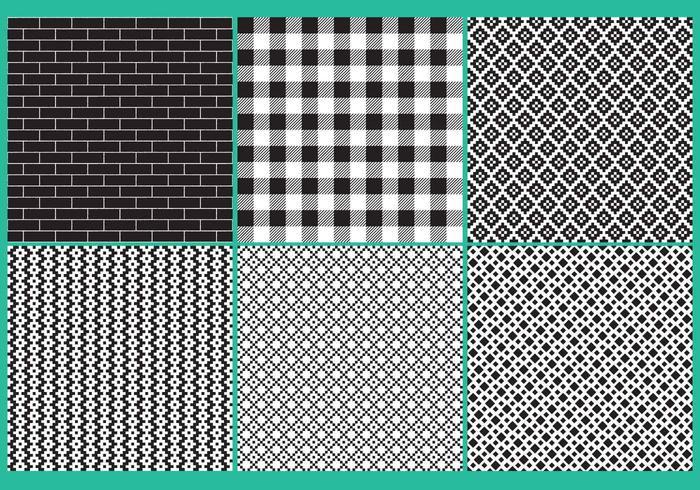 Black And White Block Patterns