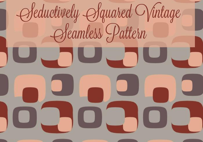 Seductively Squared Vintage/Retro Seamless Pattern