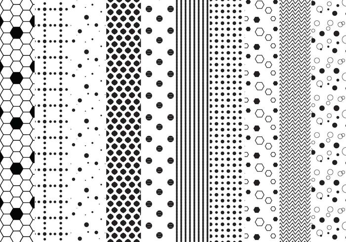 Gratis prickade mönstervektorer