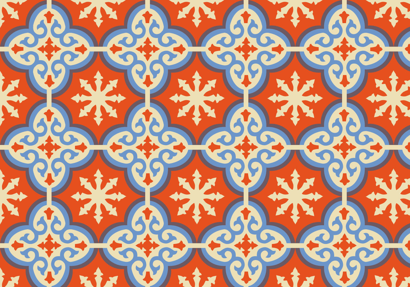 Orange Moroccan Pattern Background Vector Download Free