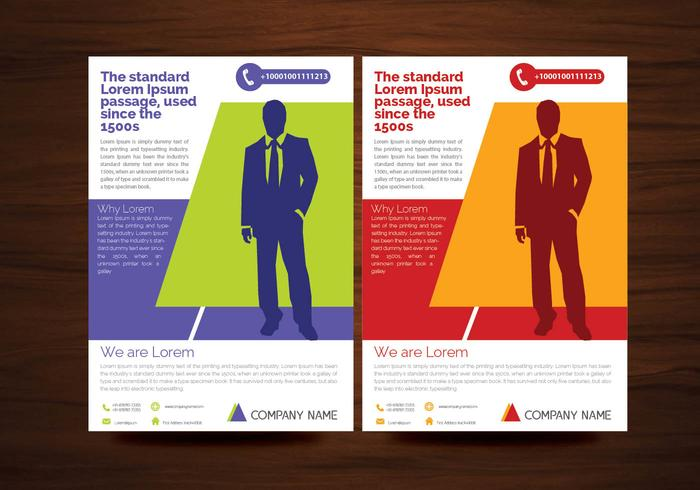 Creative Flyer Design Vectors em 2 cores