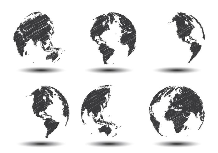 sketch world map vectors download free vector art  stock Cool Globe Graphics Free Illustrator Globe EPS