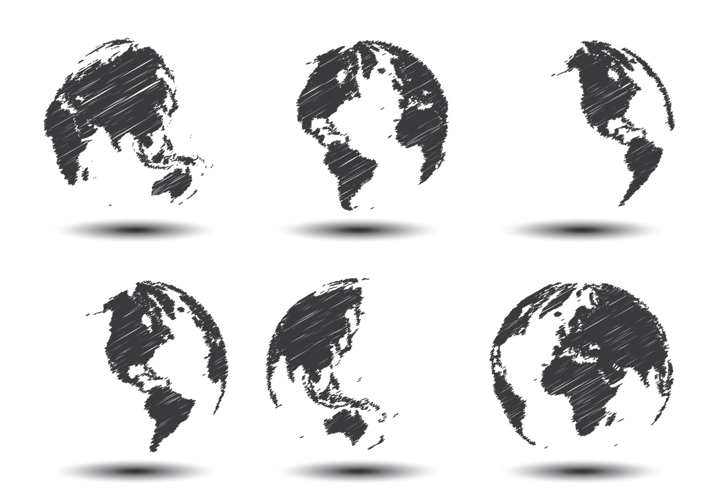 Sketch world map vectors download free vector art stock for Sketch online free