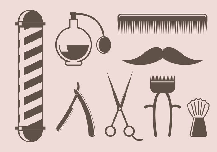 Free Vintage Barber Tool Vector Download Free Vector Art