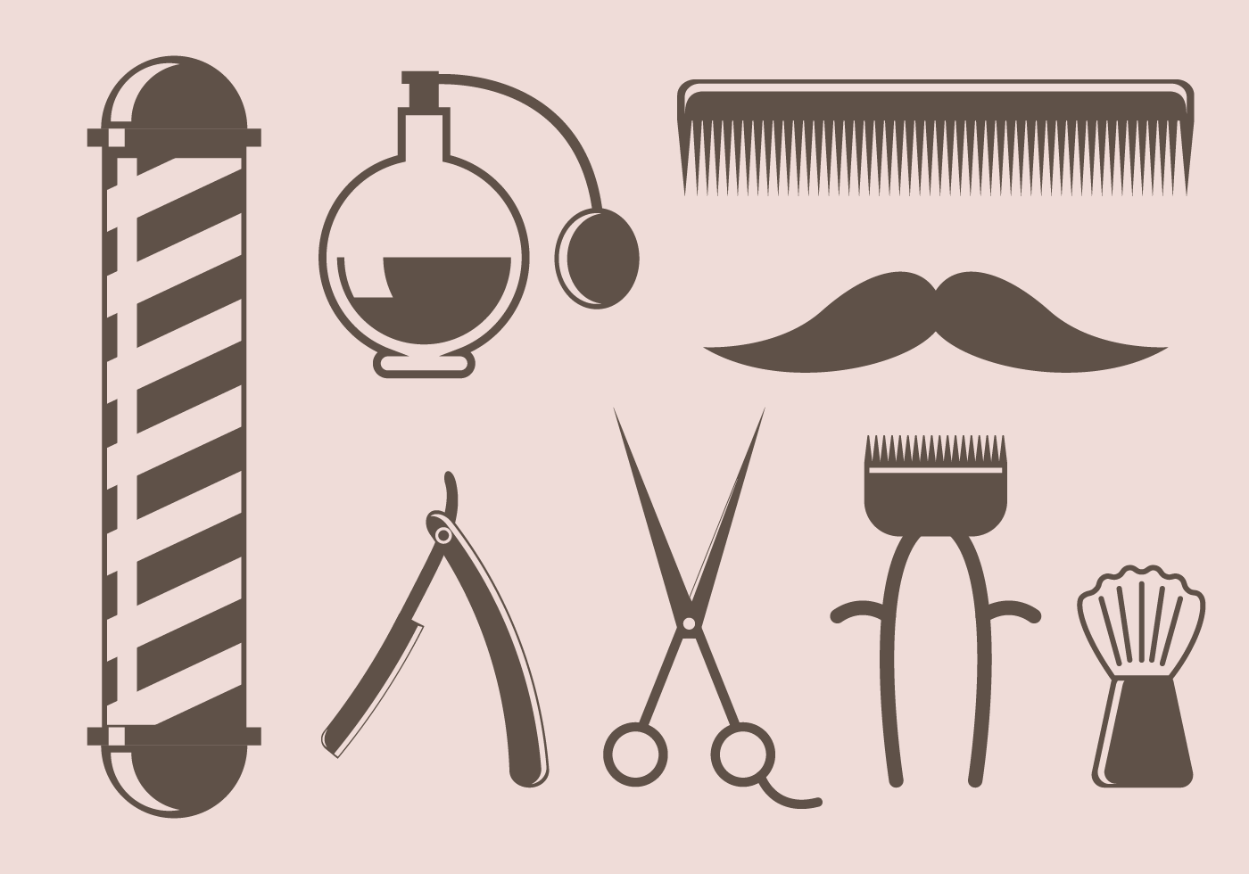 Barber Vector : Free Vintage Barber Tool Vector - Download Free Vector Art, Stock ...