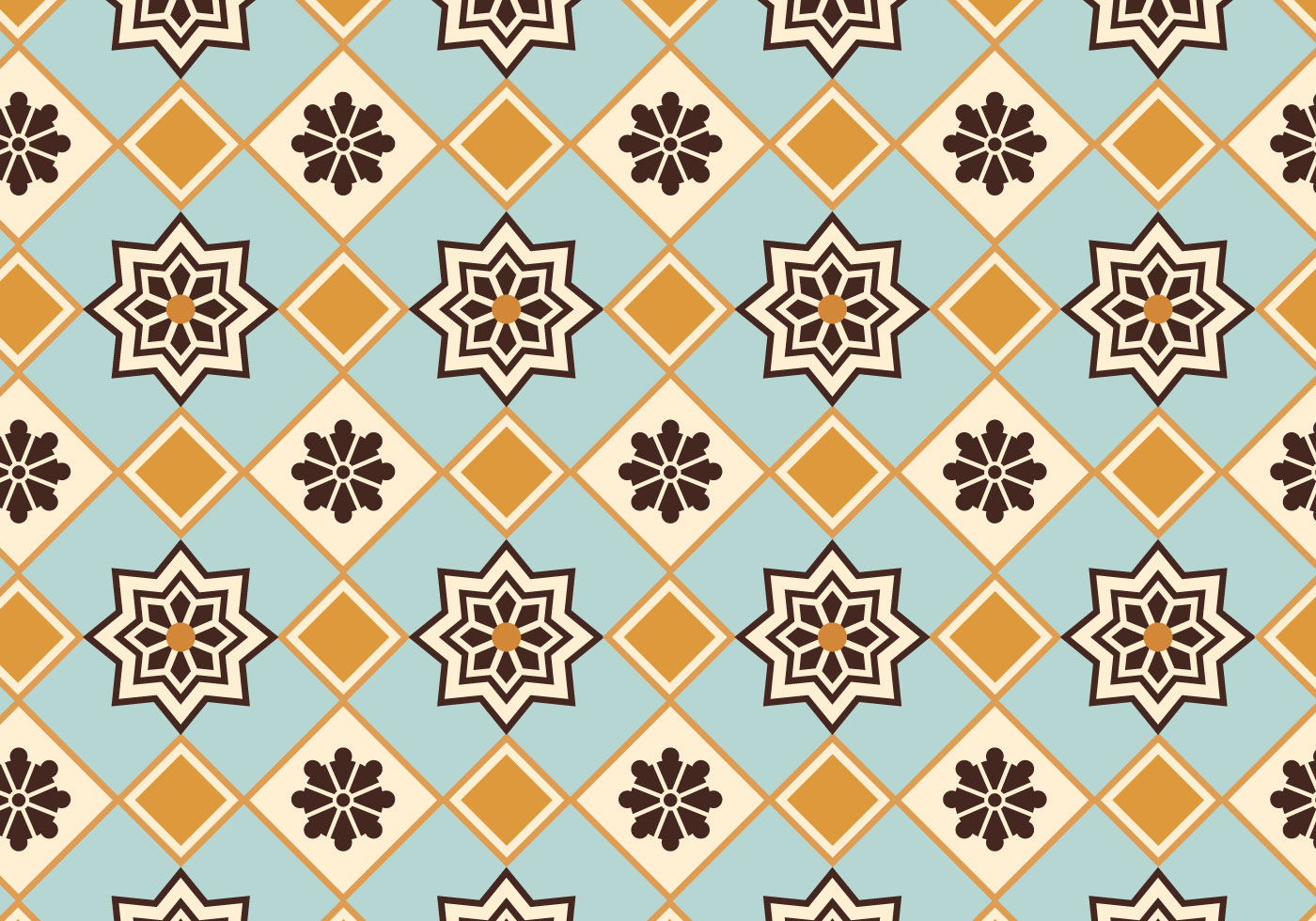 Moroccan Pattern Background Vector Download Free Vector