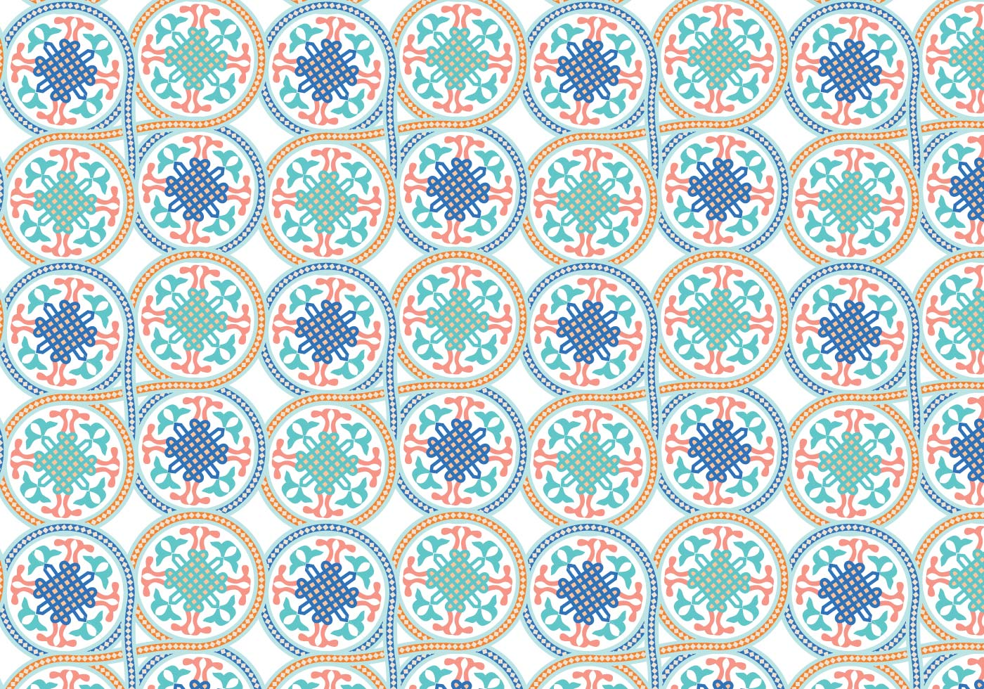 Circle Moroccan Pattern Background Vector Download Free