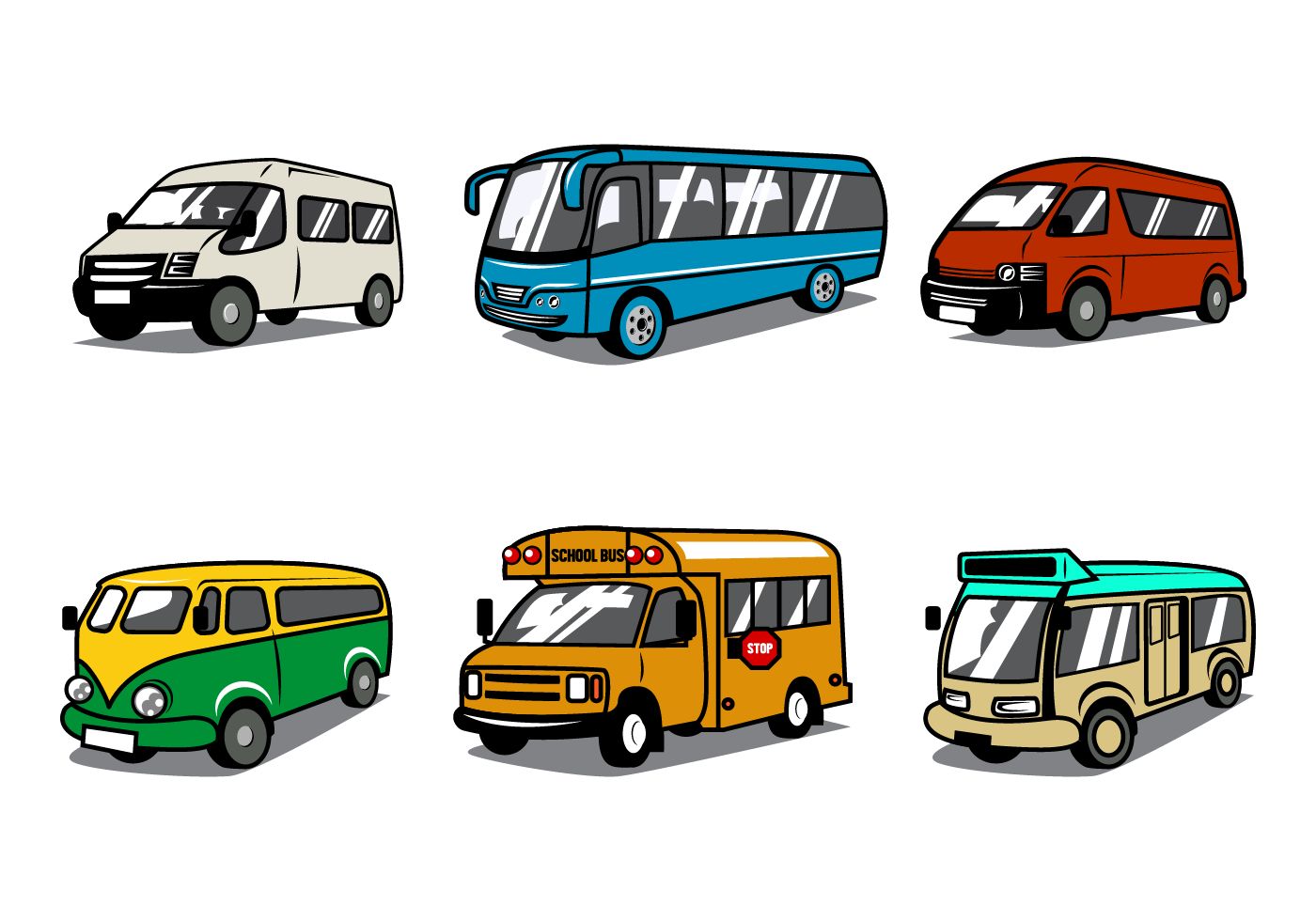 Free Minibus Vector - Download Free Vector Art, Stock Graphics & Images
