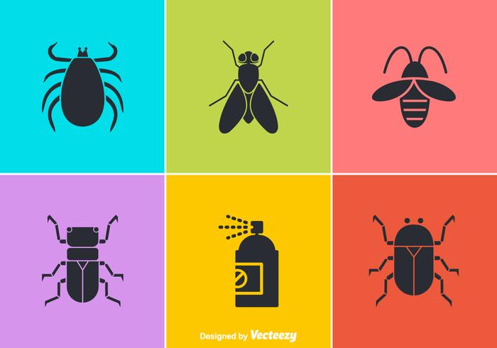 Free Vector Pest Control Icons