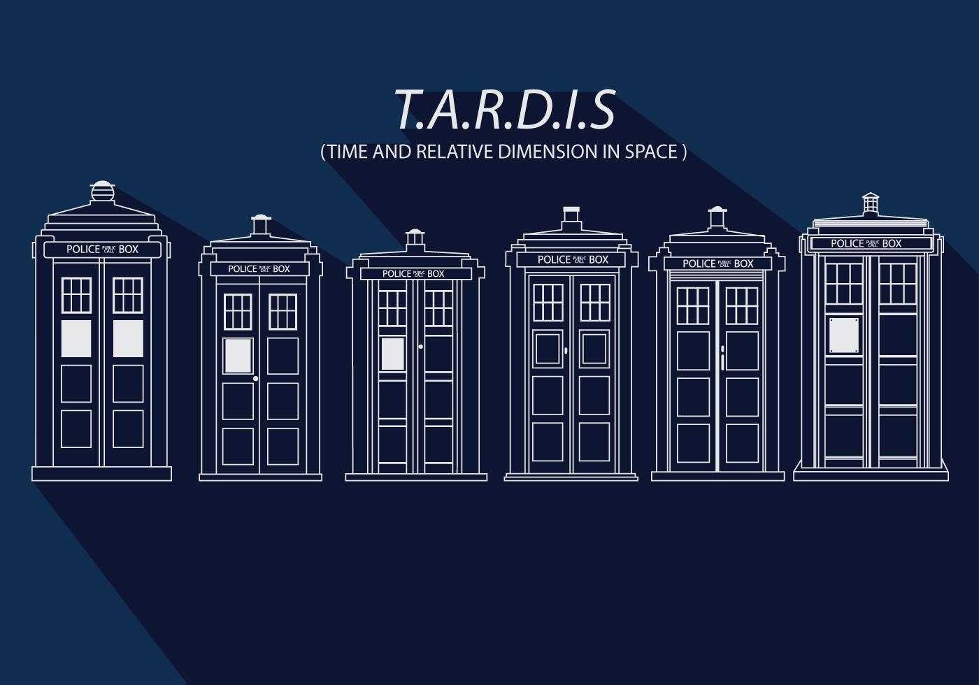 Tardis Simple Vector Download Free Vector Art Stock