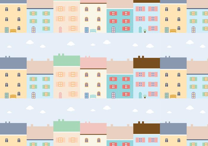 Buildings Pattern Background Vector