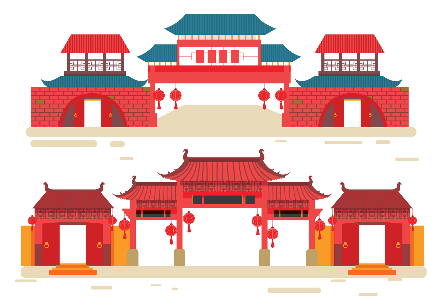 China town vector download free vector art stock for Chinese vector