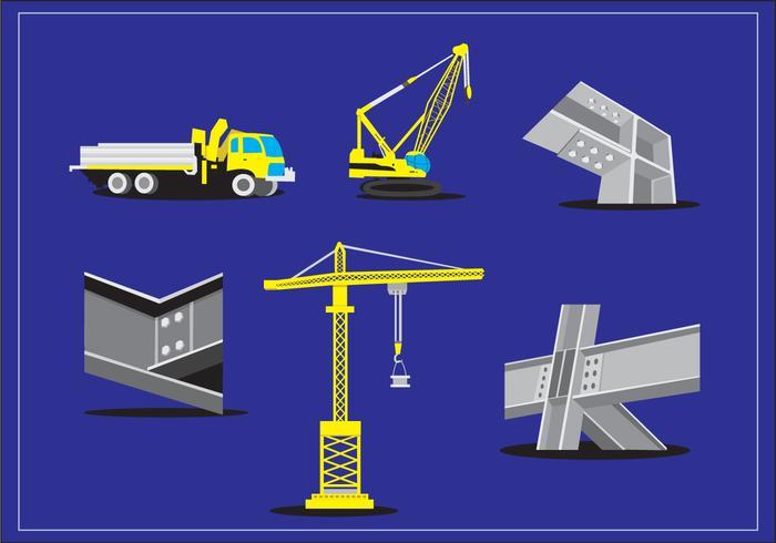 Steel Beam Construction Vector