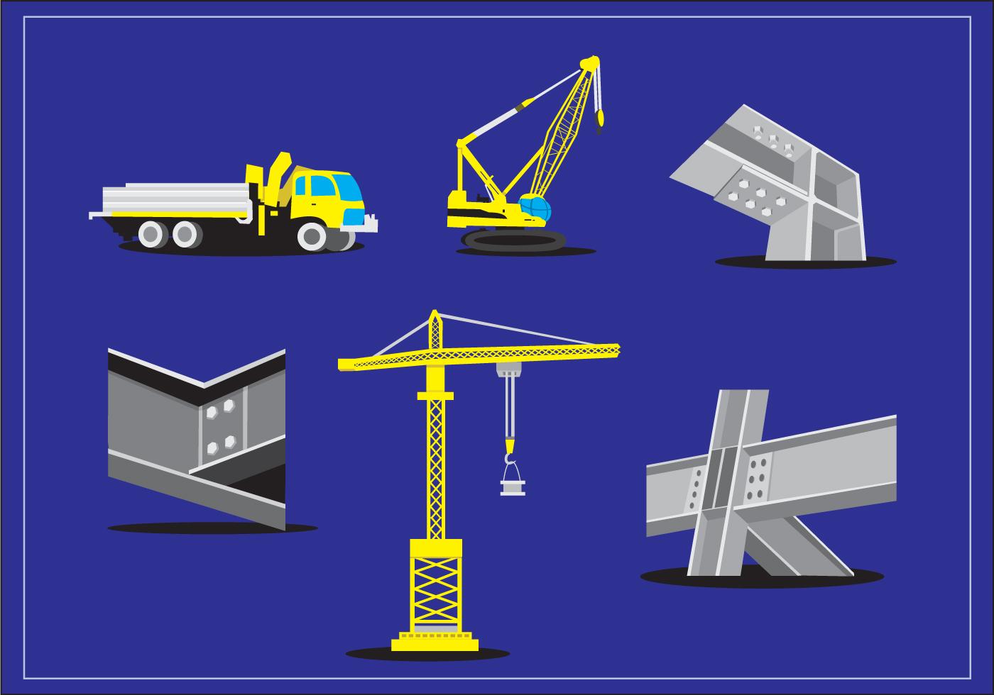 Steel Beam Construction Vector - Download Free Vector Art ...