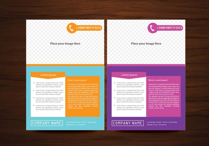 Creative Flyers Design in 2 colors