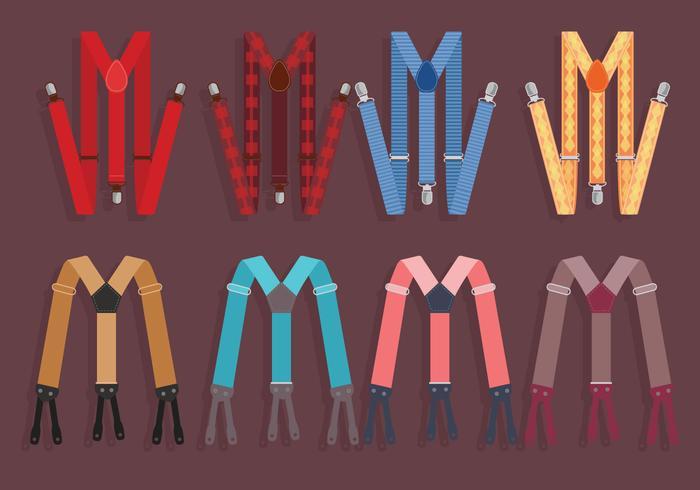 Suspenders Kleurrijke Vector