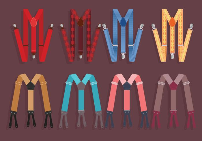 Suspenders Colorful Vector