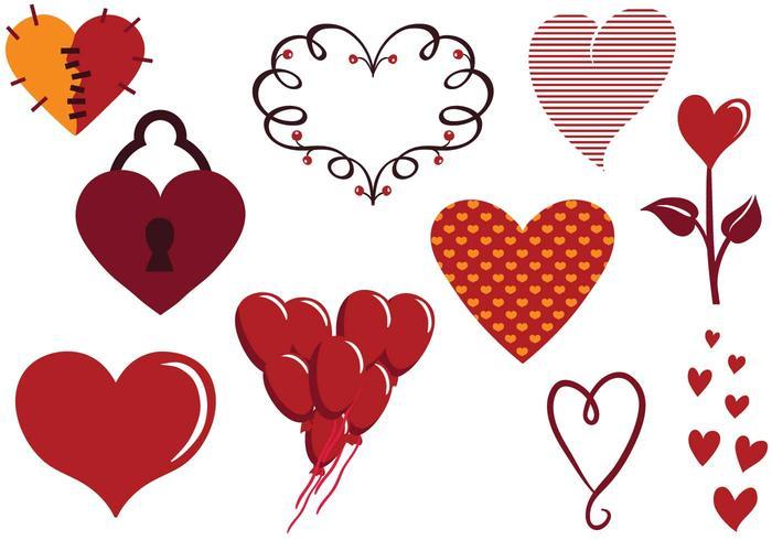Vectores libres del corazón