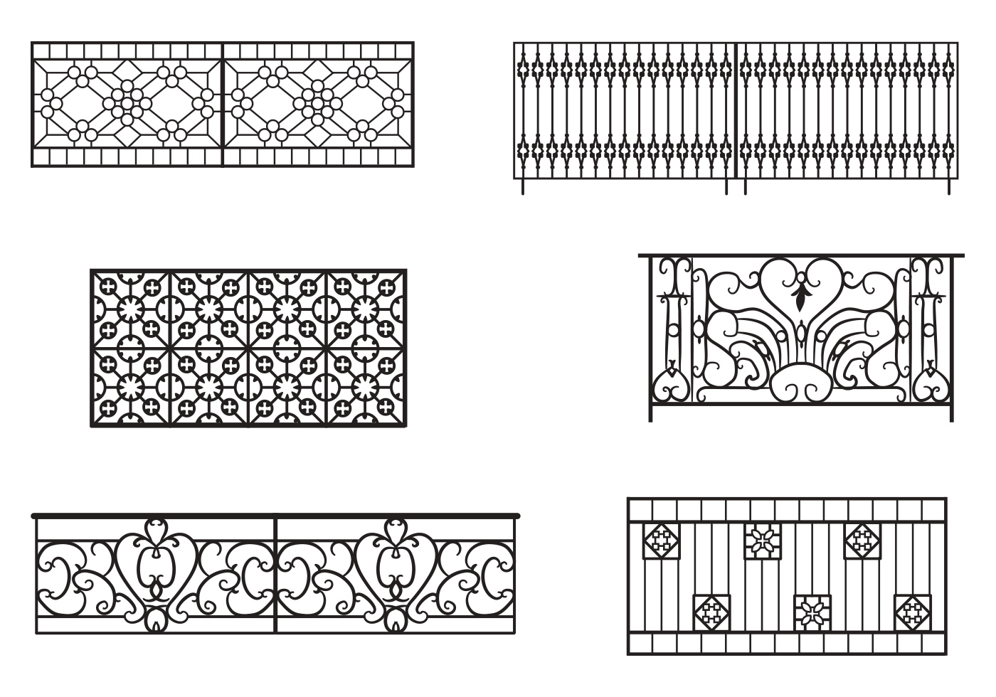 Balcony Railing Vectors Download Free Vector Art Stock