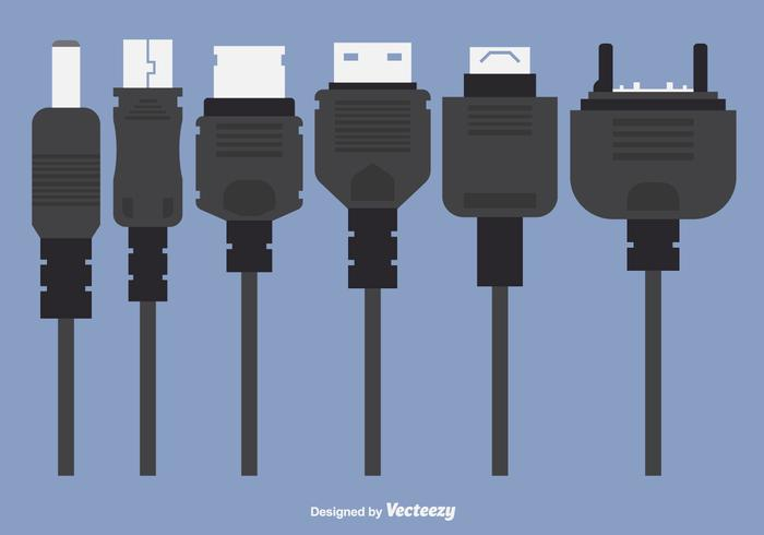 Phone Charger Plugs Vectors