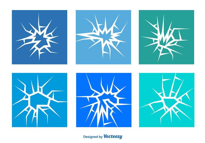 Cracked Glass Vector Set